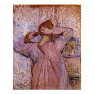 Woman Combing her hair by Toulouse-Lautrec Poster