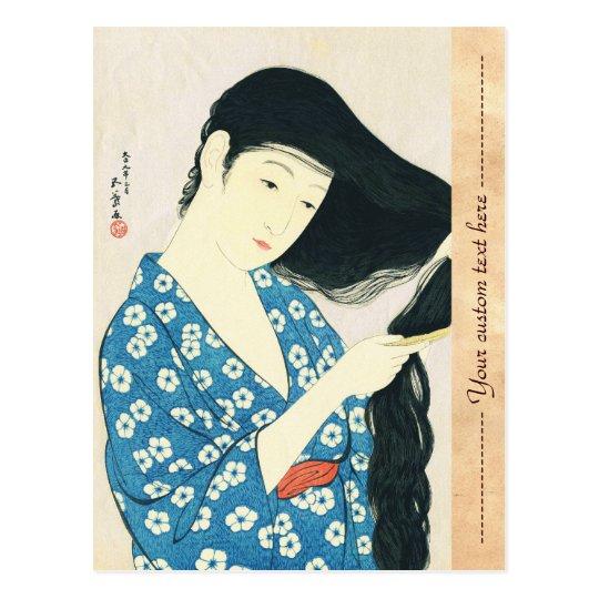 Woman Combing Her Hair Hashiguchi Goyo Postcard