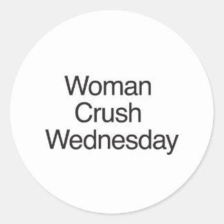 Woman Crush Wednesday Round Sticker