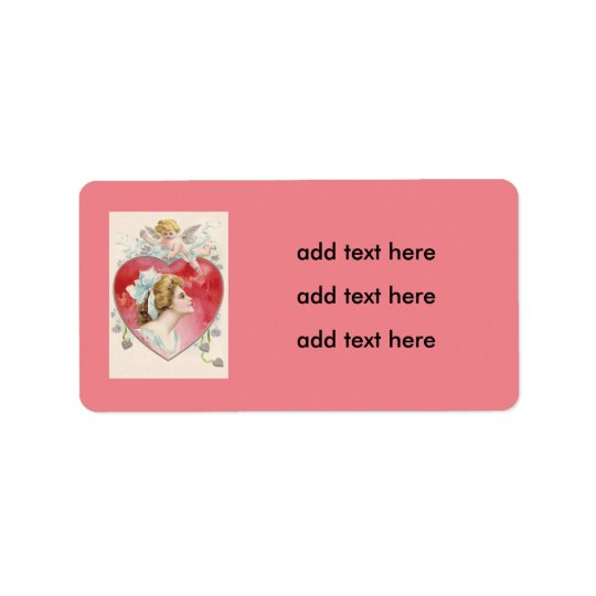Woman Cupid Heart Daisy Label