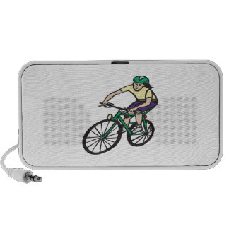 Woman Cycling iPhone Speakers