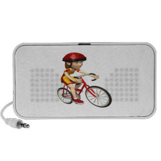 Woman Cyclist 2 iPhone Speakers