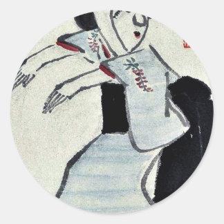 woman dancing by Ki Baitei Ukiyoe Sticker