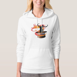 Woman Dancing In A Top Hat Womens Hoodie