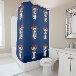 Woman Day of the Dead Shower Curtain