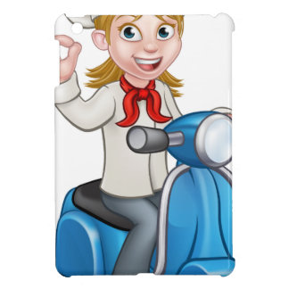 Woman Delivery Scooter Female Chef iPad Mini Cover