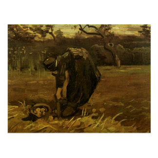 Woman Digging Up Potatoes Van Gogh Fine Art Postcard