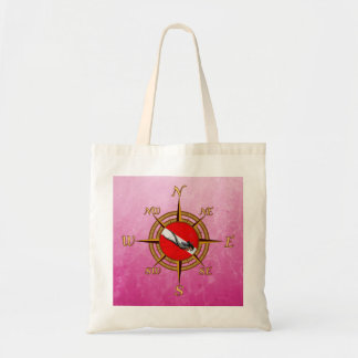 Woman Diver And Compass Bag