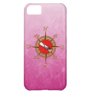 Woman Diver And Compass iPhone 5C Cases