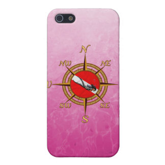Woman Diver And Compass iPhone 5 Cases
