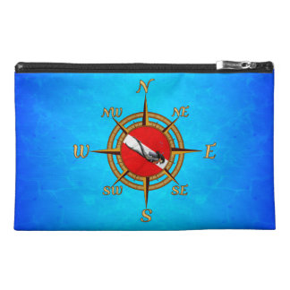 Woman Diver And Compass Travel Accessory Bag