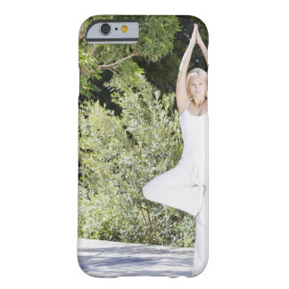 Woman doing yoga on patio barely there iPhone 6 case