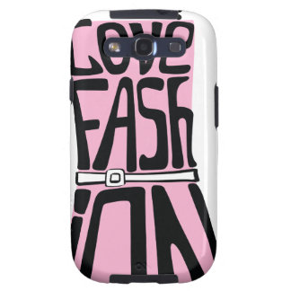 Woman dress from words I love fashion Samsung Galaxy S3 Covers