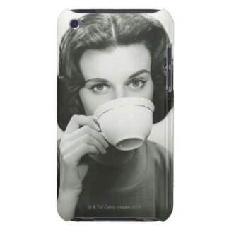Woman Drinking Barely There iPod Case