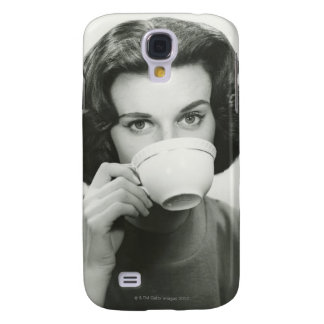 Woman Drinking Galaxy S4 Case