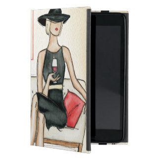 Woman Drinking Red Wine iPad Mini Cover