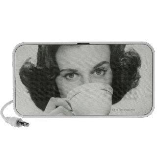 Woman Drinking iPhone Speaker