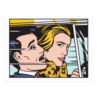 Woman Driver Postcard