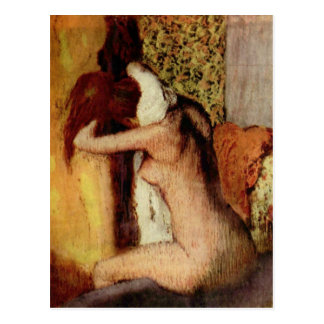 Woman Drying Her Neck Postcard