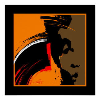 Woman Emerging Abstract Art Poster
