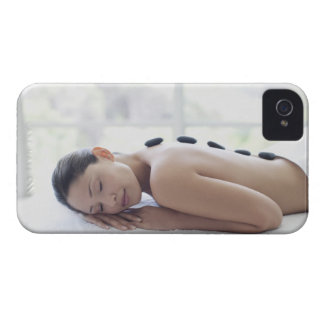 Woman enjoying lastone therapy Case-Mate iPhone 4 cases