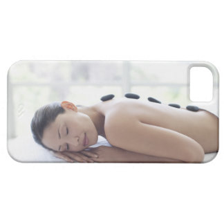 Woman enjoying lastone therapy iPhone 5 cases