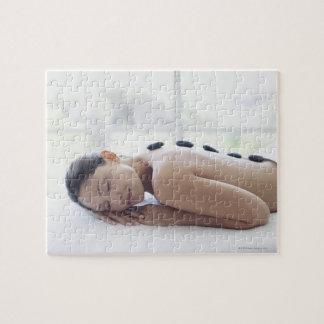Woman enjoying lastone therapy jigsaw puzzle