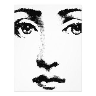 Woman face 21.5 cm x 28 cm flyer