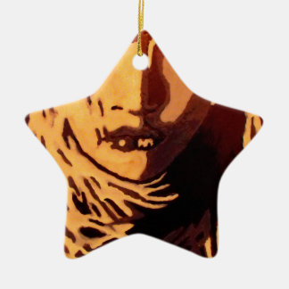 Woman face christmas ornament