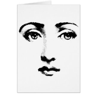 Woman face greeting cards