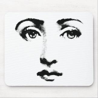 Woman face mouse pad