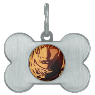 Woman face pet tag