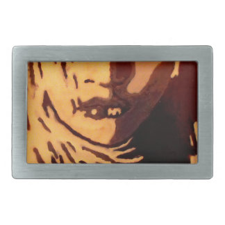 Woman face rectangular belt buckle