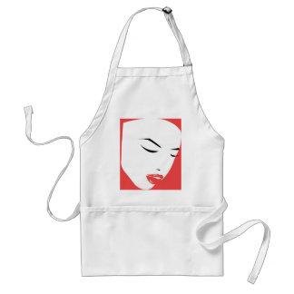 Woman face. standard apron