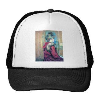 Woman fashion hair impressionism drawing cap