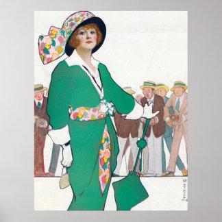 Woman Fashion Vintage Poster