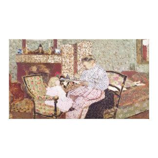 Woman Feeding a Child, 1901 Canvas Print