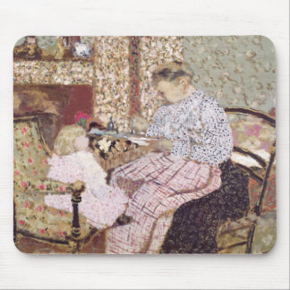 Woman Feeding a Child, 1901 Mouse Pad