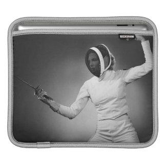 Woman Fencing iPad Sleeve