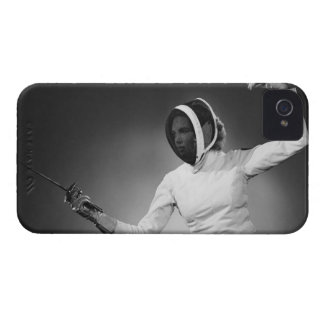 Woman Fencing iPhone 4 Case-Mate Cases