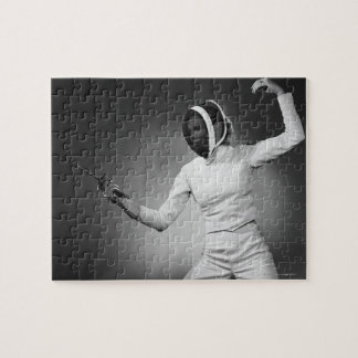 Woman Fencing Jigsaw Puzzle