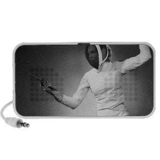 Woman Fencing Travelling Speaker