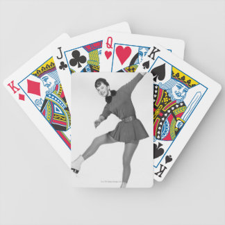 Woman Figure Skating Bicycle Playing Cards