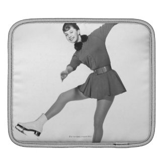 Woman Figure Skating iPad Sleeve