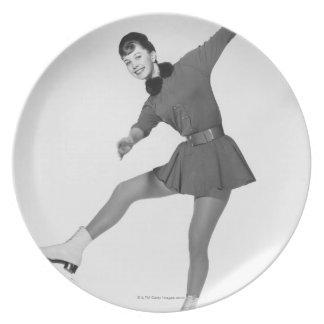 Woman Figure Skating Plate