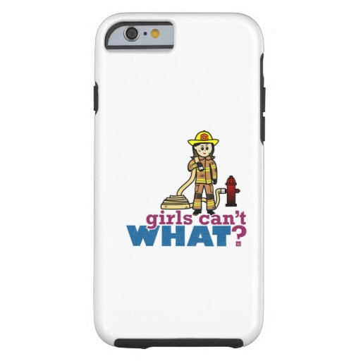 Woman Firefighter iPhone 6 Case