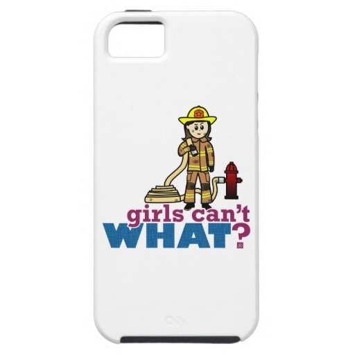 Woman Firefighter iPhone 5 Cases