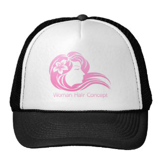 Woman Flower Hair Concept Cap