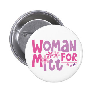 Woman FOR Mitt Romney - Cute Romney 2012 6 Cm Round Badge