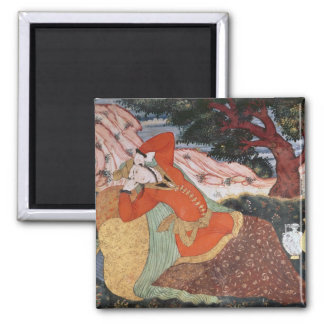 Woman from the Court of Shah Abbas I, 1585-1627 Square Magnet